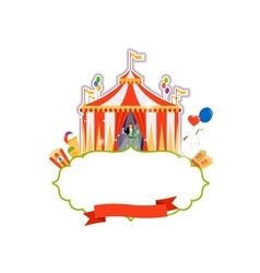Vintage circus isolated element vector