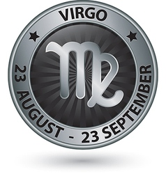 Virgo zodiac silver sign virgo symbol vector
