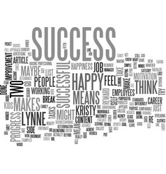 what does success mean to you text word cloud vector image