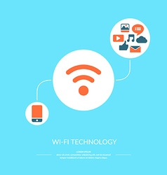Wi-fi technology vector image