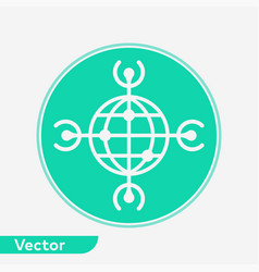 worldwide icon sign symbol vector image