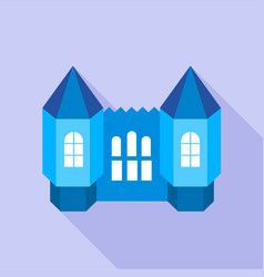 blue fortress towers icon flat style vector image vector image