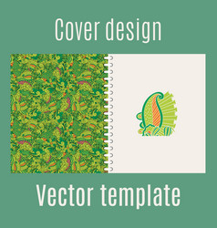 cover design with jungle leaves vector image vector image