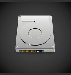 Data Storage Hard Disc Drive Icon vector image