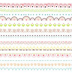 doodles cute borders vector image