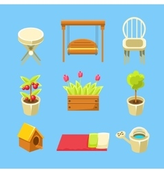 Garden Objects Set vector image