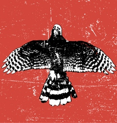 grunge vintage bird vector image vector image