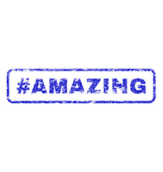 hashtag amazing rubber stamp vector image vector image