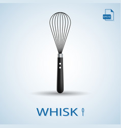 kitchen tools whisk isolated on a background vector image