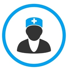 Medic Rounded Icon vector image vector image