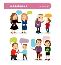 People conversations with speech bubbles vector