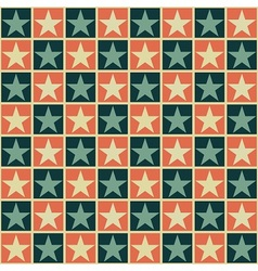 Retro pattern with stars vector image vector image