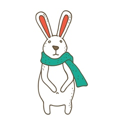 Small cute cartoon bunny vector image vector image