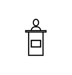 conference speech man icon vector image