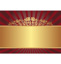 gold background with roses vector image vector image
