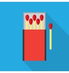matchbox and matches vector image