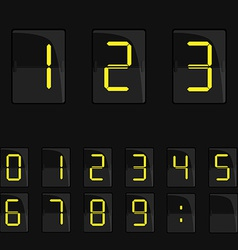 Mechanical panel with numbers vector image