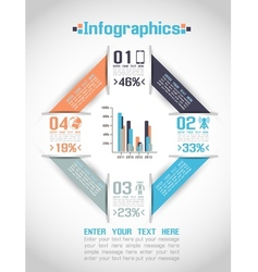 MODERN ORIGAMI BUSINESS STEB STYLE OPTIONS BANNER vector image vector image