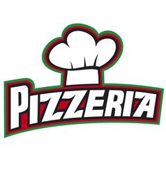 pizzeria label design vector image vector image