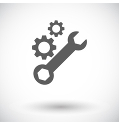 Setting single icon vector image