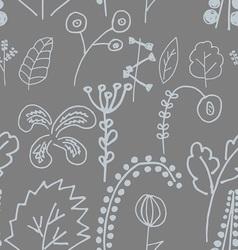 Fantastic plants seamless pattern vector image