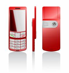illustration of a red cellphone vector image