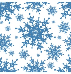 Seamless pattern texture with blue snowflakes vector image vector image