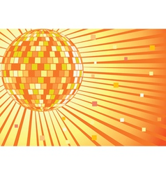disko mirror ball vector image