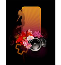 floral music banner vector image