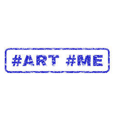 hashtag art hashtag me rubber stamp vector image vector image