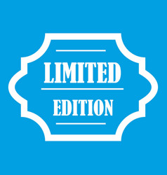 limited edition icon white vector image vector image