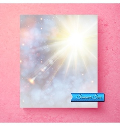 Summer sunburst in a soft ethereal sky vector image