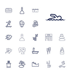 22 spa icons vector