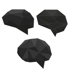 Abstract creative low polygonal black diamond vector