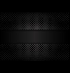 Abstract dark grey banner on circle mesh pattern vector
