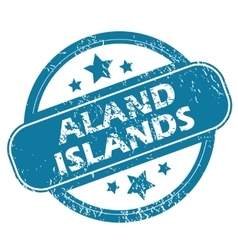 ALAND ISLANDS round stamp vector image