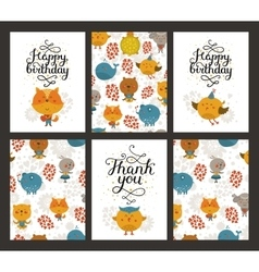 Animal cards vector