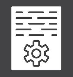Article marketing glyph icon seo and development vector