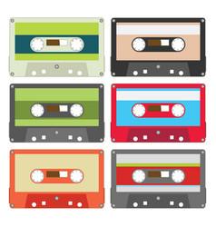 Audio tape set ii vector