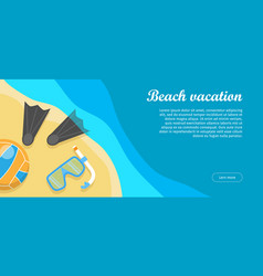 beach vacation flat design web banner vector image