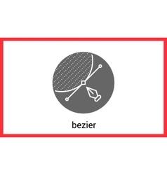 Bezier curve outline contour vector