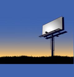 billboard at dawn vector image