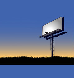 Billboard at dawn vector
