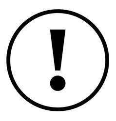 black circle exclamation mark icon warning sign vector image
