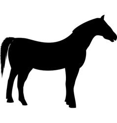 Black farming horse silhouette vector