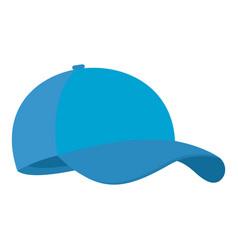 blue baseball cap icon flat style vector image