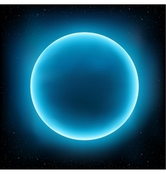 Blue planet space vector