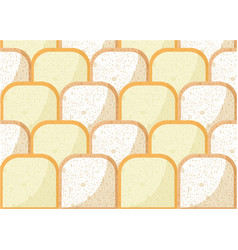 Bread pieces pattern with whole wheat bread rye vector