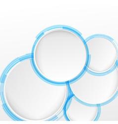 Bright blue circle design elements vector image