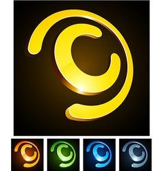 C vibrant emblems vector image